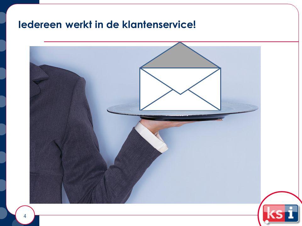En service = marketing! Iedereen werkt in de klantenservice! 4
