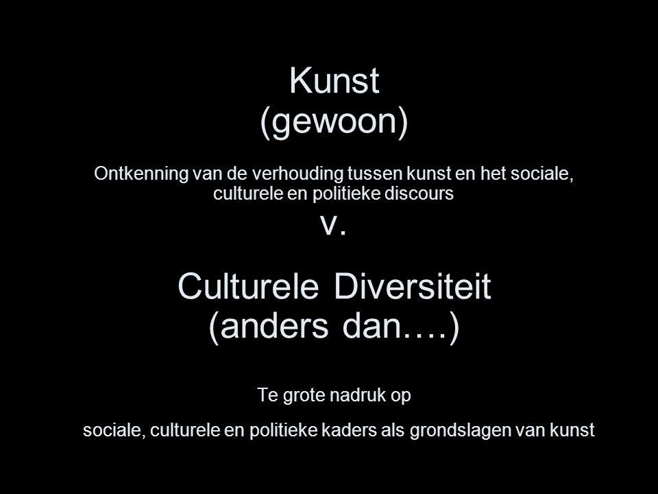 Kunst (gewoon) Ontkenning van de verhouding tussen kunst en het sociale, culturele en politieke discours v.