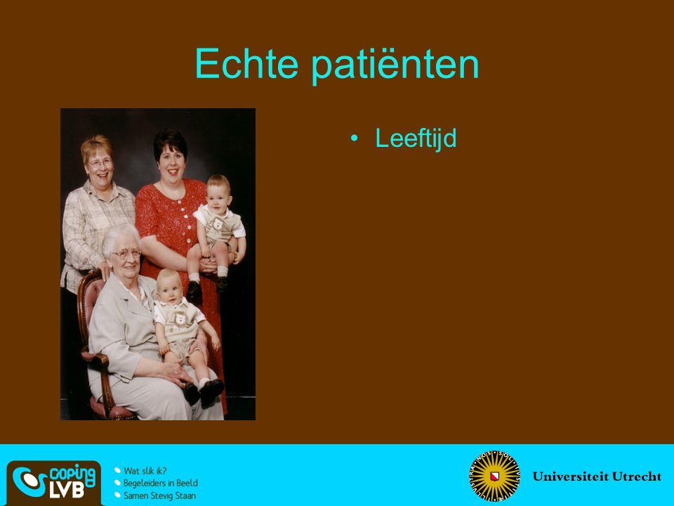 Echte patiënten Leeftijd