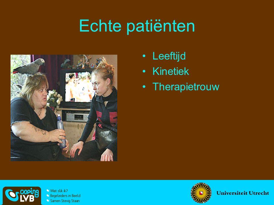 Echte patiënten Leeftijd Kinetiek Therapietrouw