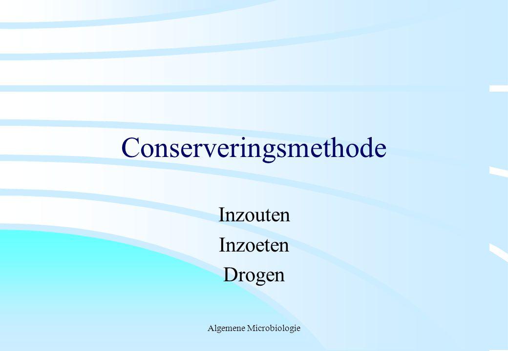 Algemene Microbiologie Conserveringsmethode Inzouten Inzoeten Drogen