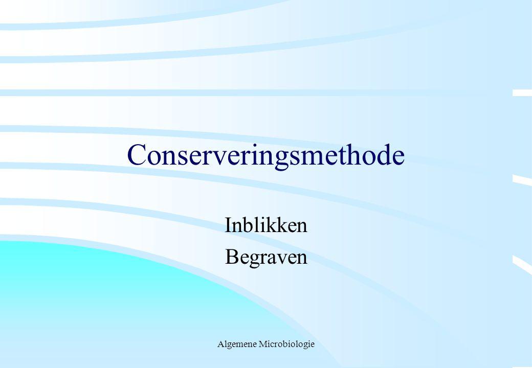 Algemene Microbiologie Conserveringsmethode Inblikken Begraven