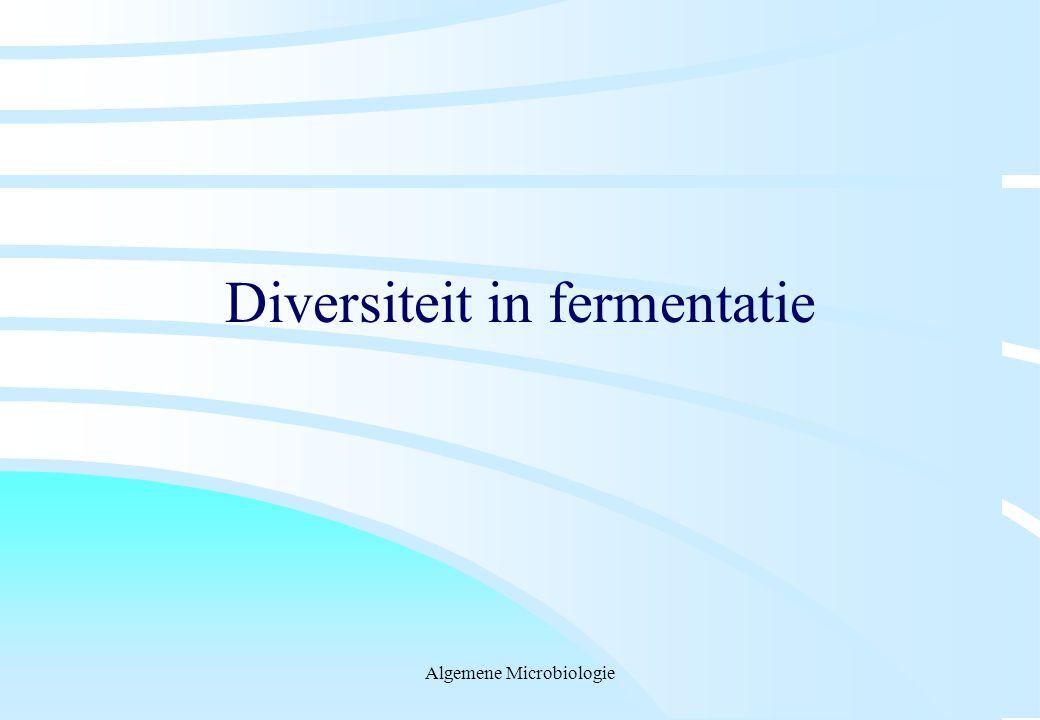 Algemene Microbiologie Diversiteit in fermentatie