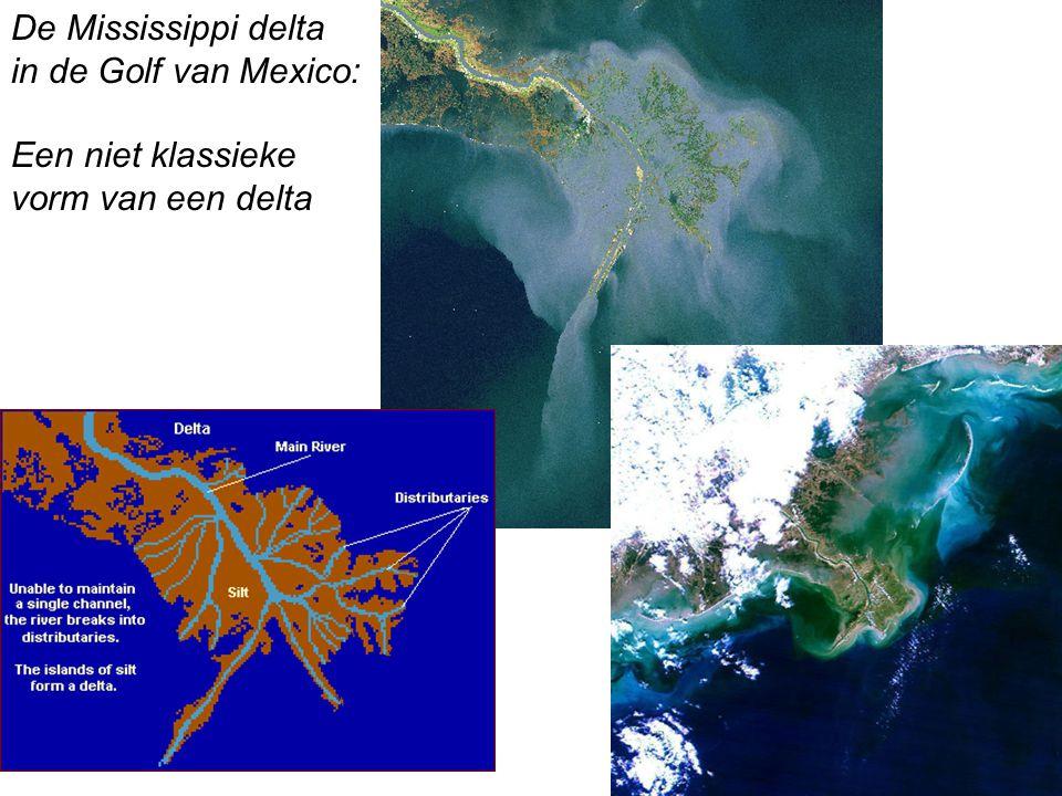 De Mississippi delta in de Golf van Mexico: Een niet klassieke vorm van een delta