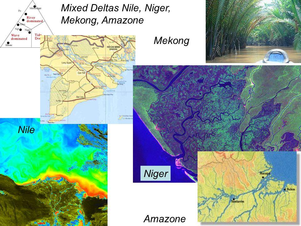 Mixed Deltas Nile, Niger, Mekong, Amazone Ganges Mekong Nile Niger Amazone