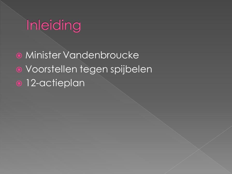  Minister Vandenbroucke  Voorstellen tegen spijbelen  12-actieplan