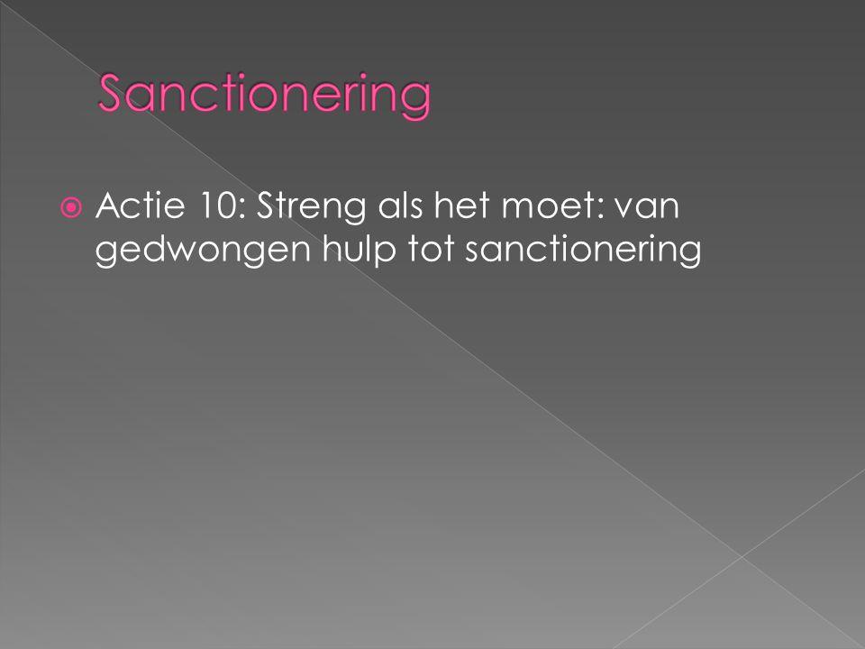  Actie 10: Streng als het moet: van gedwongen hulp tot sanctionering