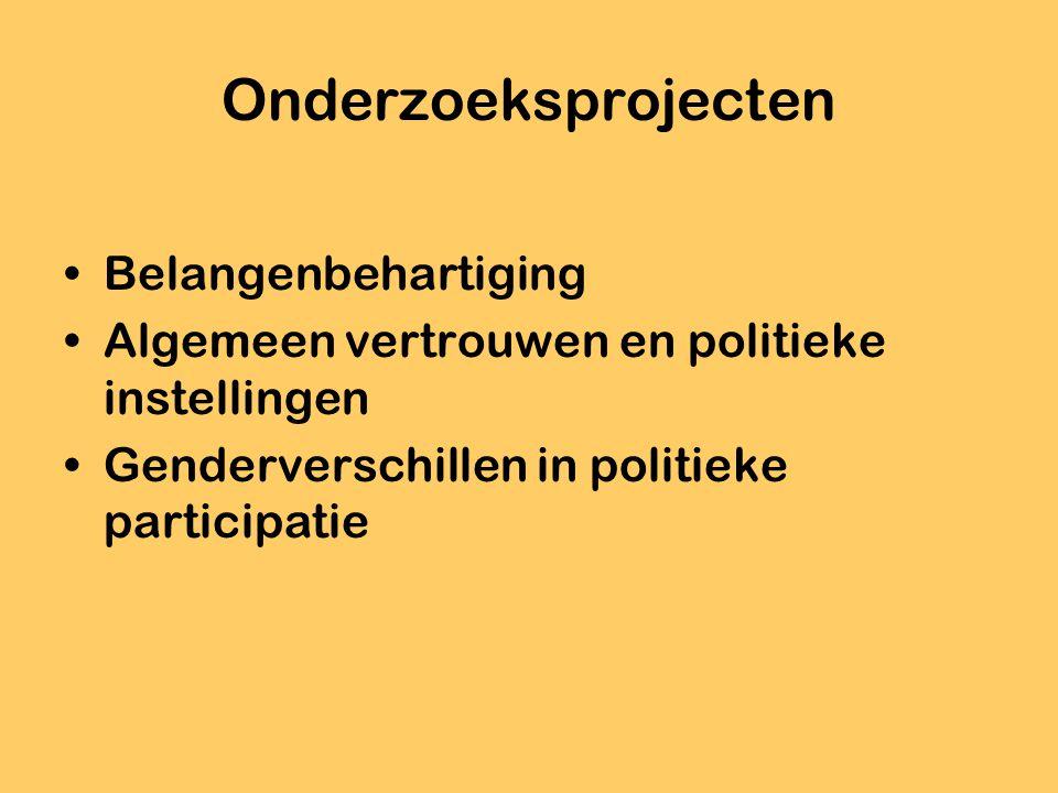 Publicaties: kenmerken In de Nederlandse, Engelse, Franse of Duitse taal Onderzoek gebaseerd op opiniepeilingen Onderzoek van verkiezingen