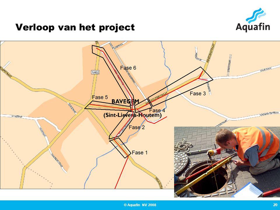 20 © Aquafin NV 2008 Verloop van het project