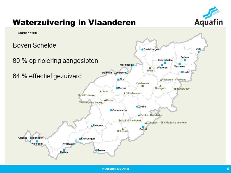 7 © Aquafin NV 2008 Waterzuivering in Vlaanderen Zuiveringsgebied Bavegem