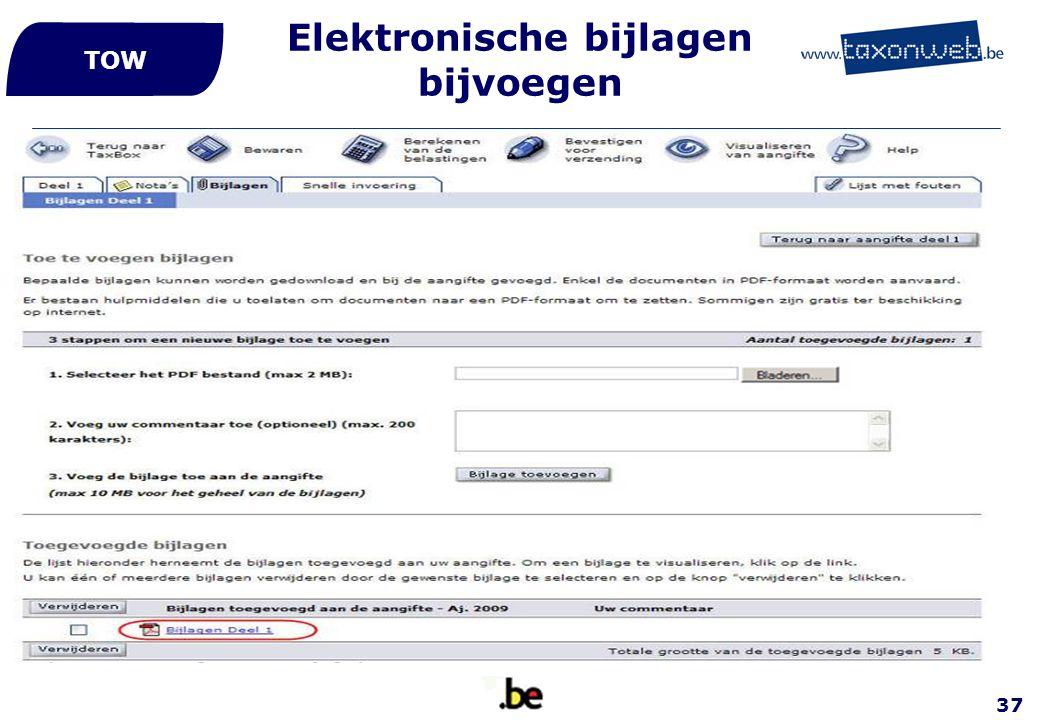37 Elektronische bijlagen bijvoegen TOW