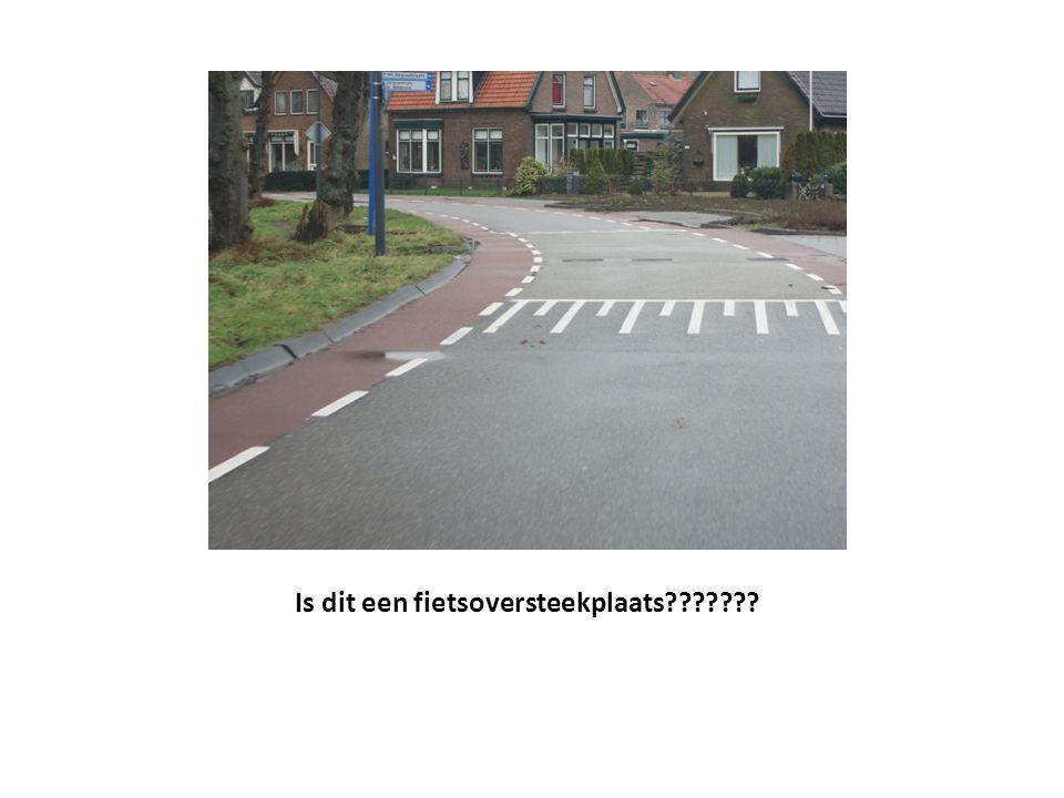Is dit een fietsoversteekplaats