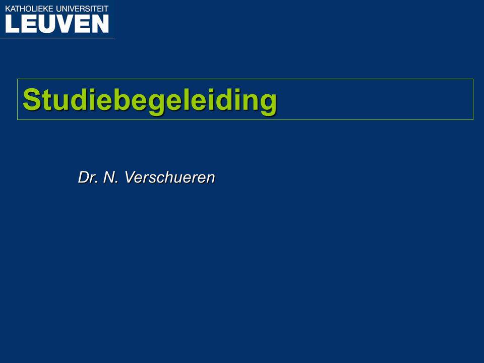 Dr. N. Verschueren Studiebegeleiding