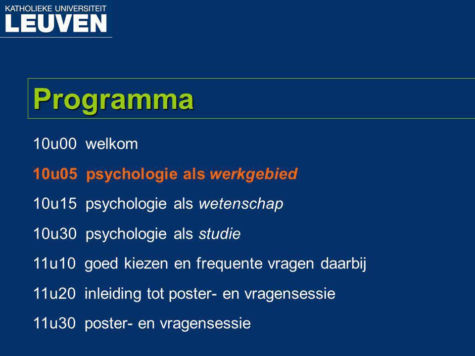 Prof. Hans De Witte Psychologie als werkgebied