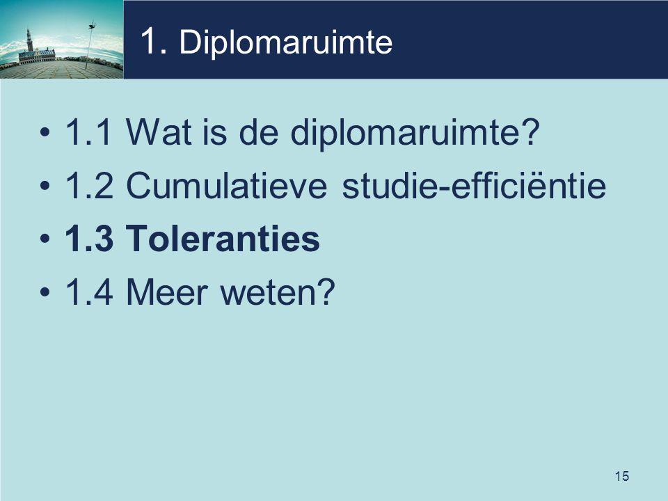 15 1. Diplomaruimte 1.1 Wat is de diplomaruimte.