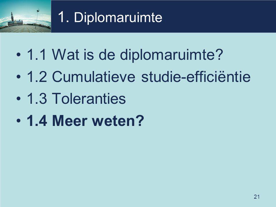 21 1. Diplomaruimte 1.1 Wat is de diplomaruimte.