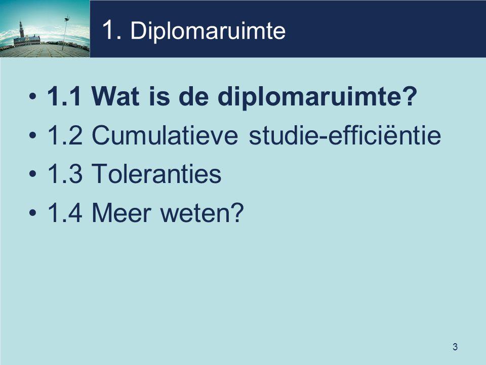 3 1. Diplomaruimte 1.1 Wat is de diplomaruimte.
