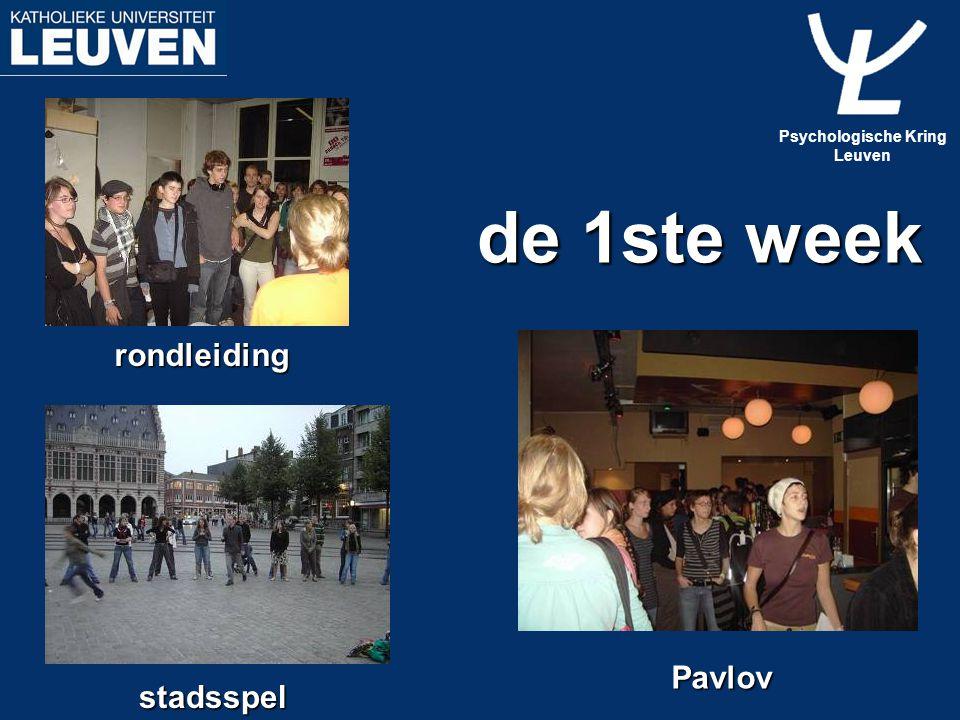 de 1ste week rondleiding stadsspel Pavlov Psychologische Kring Leuven