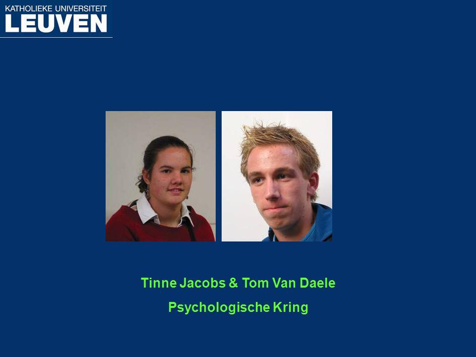 Tinne Jacobs & Tom Van Daele Psychologische Kring