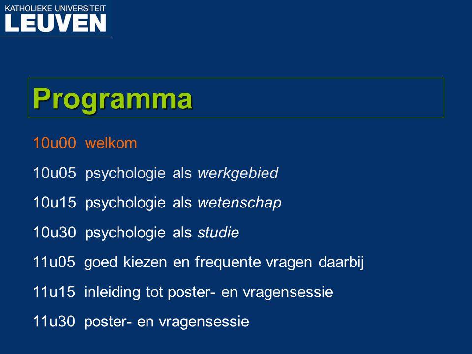 Psychologische Kring door studenten, voor studenten Psychologische Kring Leuven