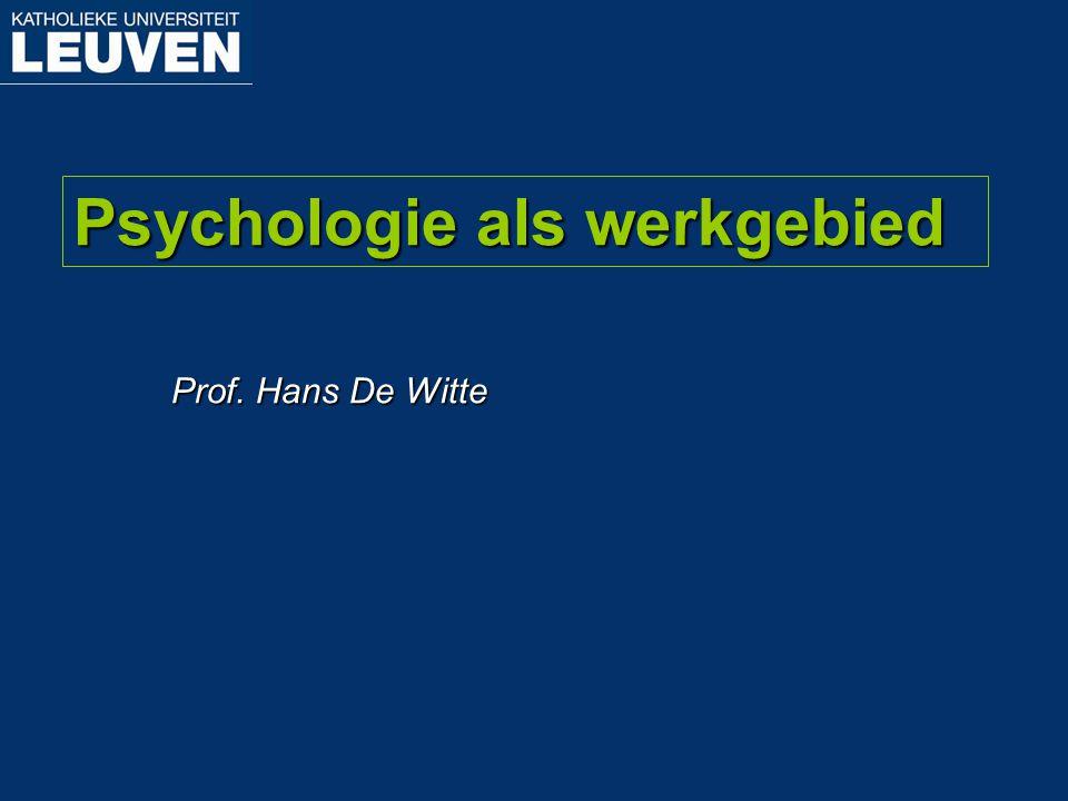 Hoe word je in Leuven bachelor en master in de psychologie.
