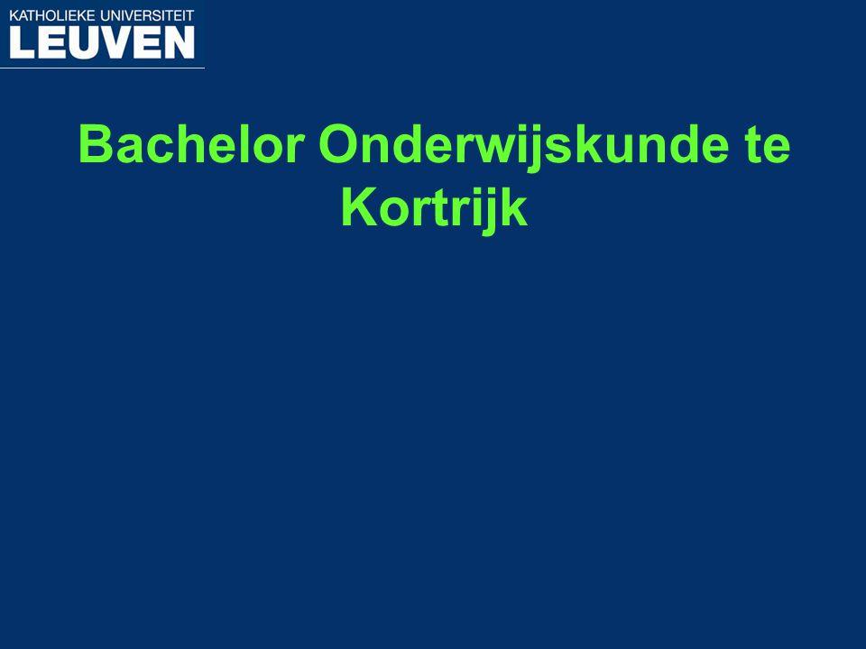 Bachelor Onderwijskunde te Kortrijk