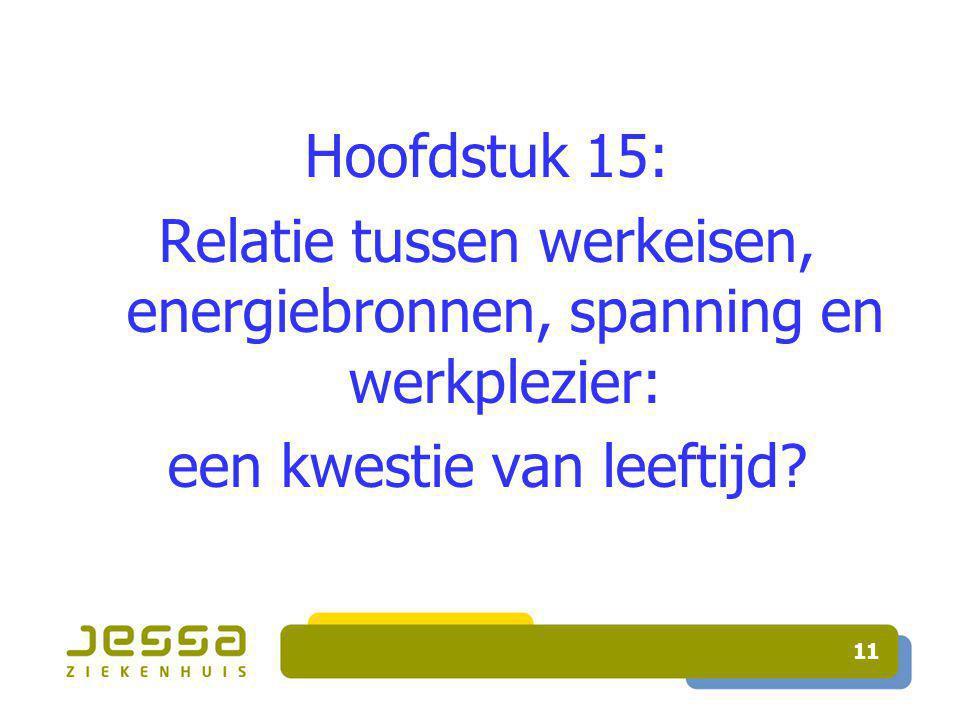 11 Hoofdstuk 15: Relatie tussen werkeisen, energiebronnen, spanning en werkplezier: een kwestie van leeftijd