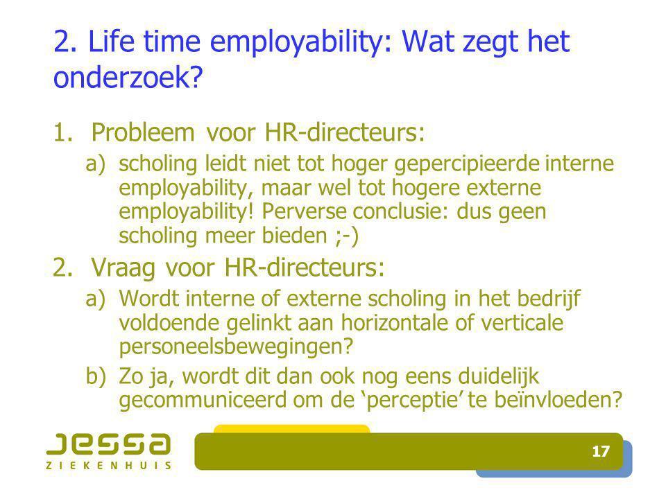 17 2. Life time employability: Wat zegt het onderzoek.