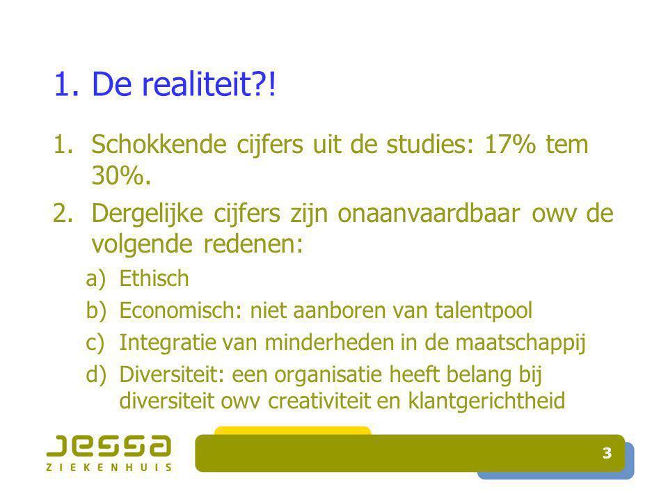 3 1. De realiteit . 1.Schokkende cijfers uit de studies: 17% tem 30%.
