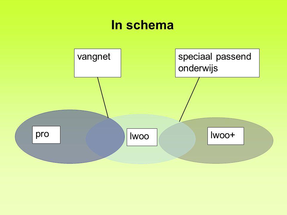 In schema vangnetspeciaal passend onderwijs pro lwoo lwoo+