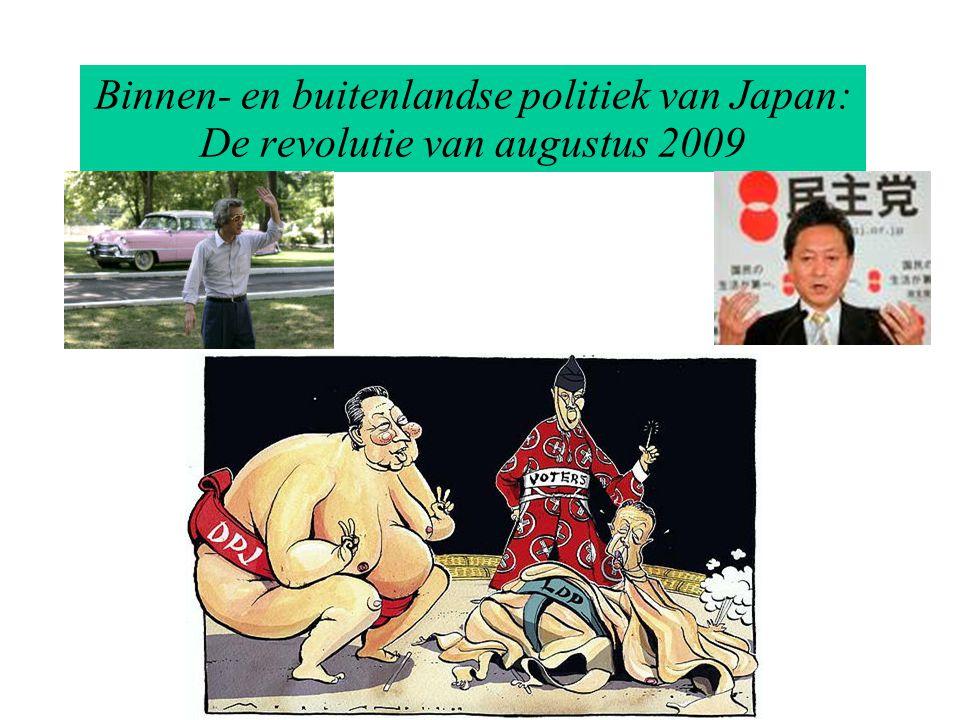 Binnen- en buitenlandse politiek van Japan: De revolutie van augustus 2009 Prof.