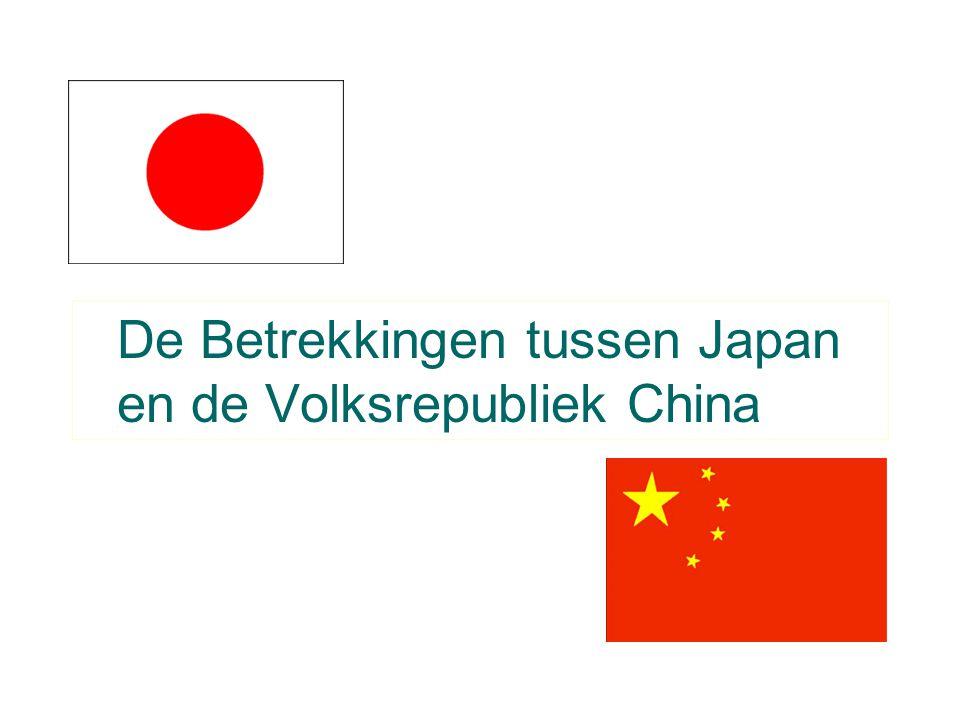 De Betrekkingen tussen Japan en de Volksrepubliek China