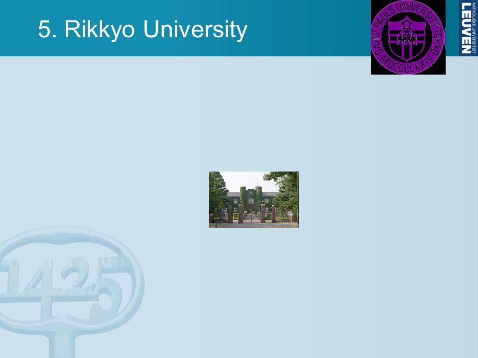 5. Rikkyo University