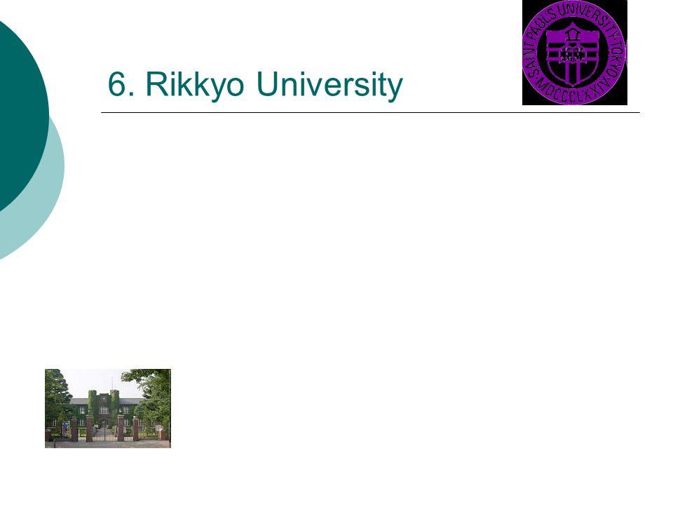 6. Rikkyo University