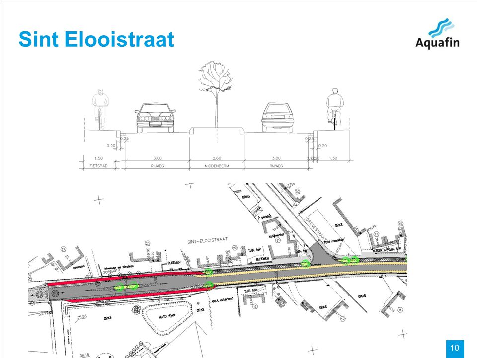 15-12-2010 Aquafin partner for all wastewater projects 11 Sint Elooistraat Aansluiten op Ommegang Noord