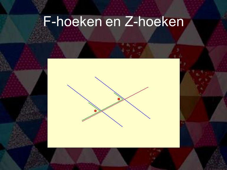 F-hoeken en Z-hoeken