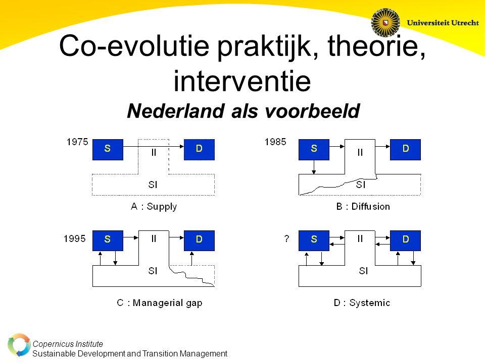 Copernicus Institute Sustainable Development and Transition Management Co-evolutie praktijk, theorie, interventie Nederland als voorbeeld