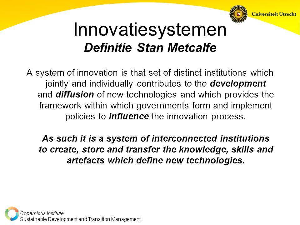 Copernicus Institute Sustainable Development and Transition Management Innovatiesystemen AVII OI