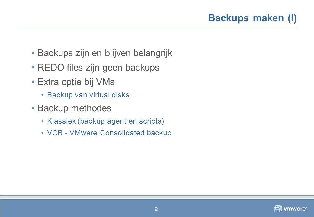 13 VMware Consolidated backup (VII) Demo.