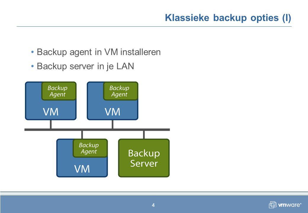 15 Conclusie Consolidated backup is een aanvulling Snelheid is een grote plus  Backup window Minder overhead op Service Console Configuratie kent wat aandachtspunten Fysieke Windows 2003 Server in je SAN Scripts maken of aanpassen Restore optie is beperkt