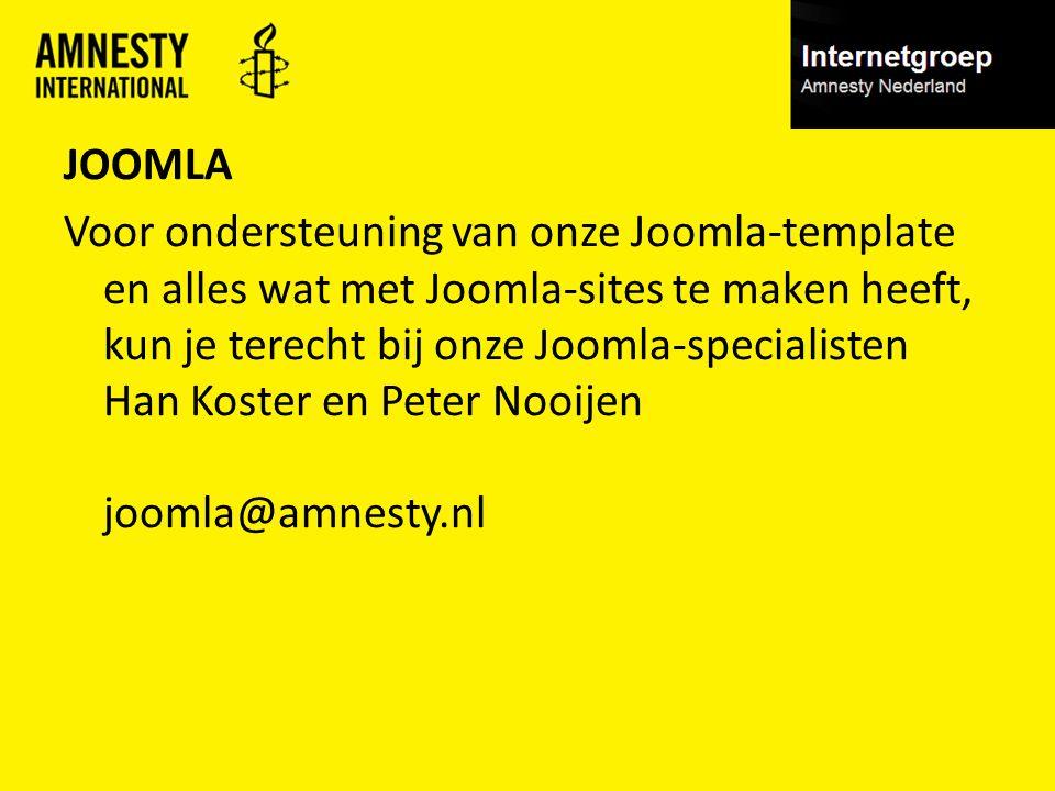 JOOMLA Voor ondersteuning van onze Joomla-template en alles wat met Joomla-sites te maken heeft, kun je terecht bij onze Joomla-specialisten Han Koste
