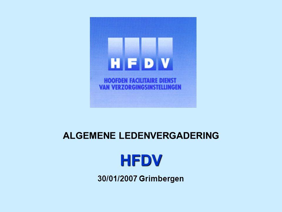 ALGEMENE LEDENVERGADERING HFDV AGENDA: 14u30Verwelkoming – A.