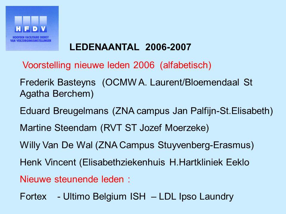 LEDENAANTAL 2006-2007 Voorstelling nieuwe leden 2006 (alfabetisch) Frederik Basteyns (OCMW A.