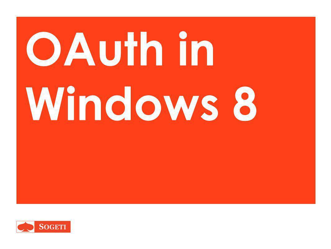 OAuth in Windows 8