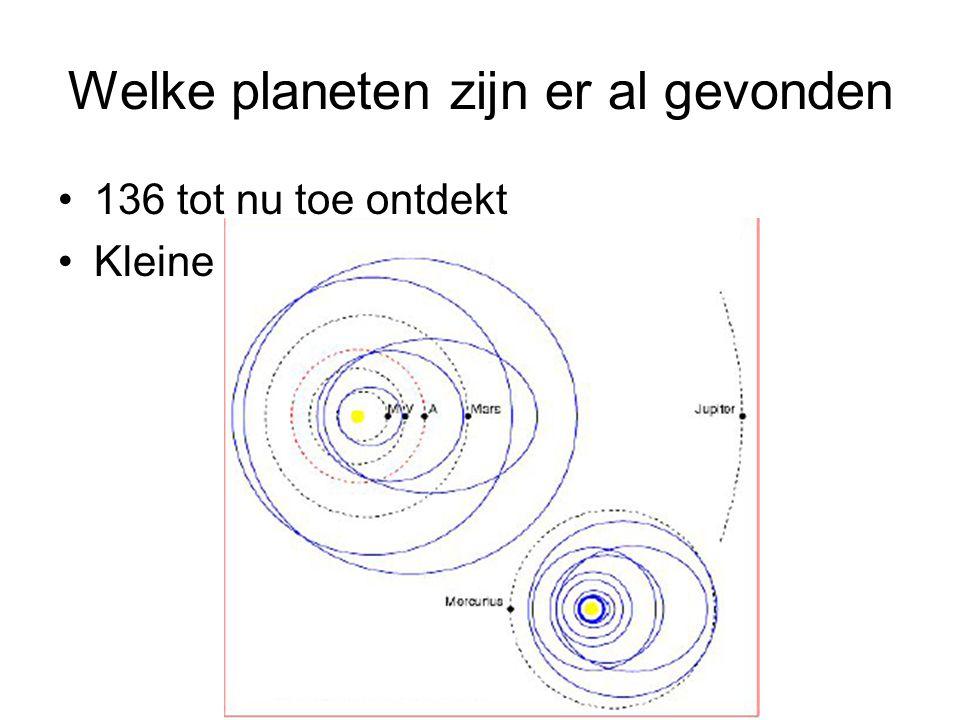 Welke planeten zijn er al gevonden 136 tot nu toe ontdekt Kleine omloopbaan