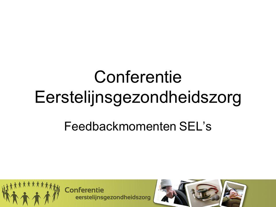 Conferentie Eerstelijnsgezondheidszorg Feedbackmomenten SEL's