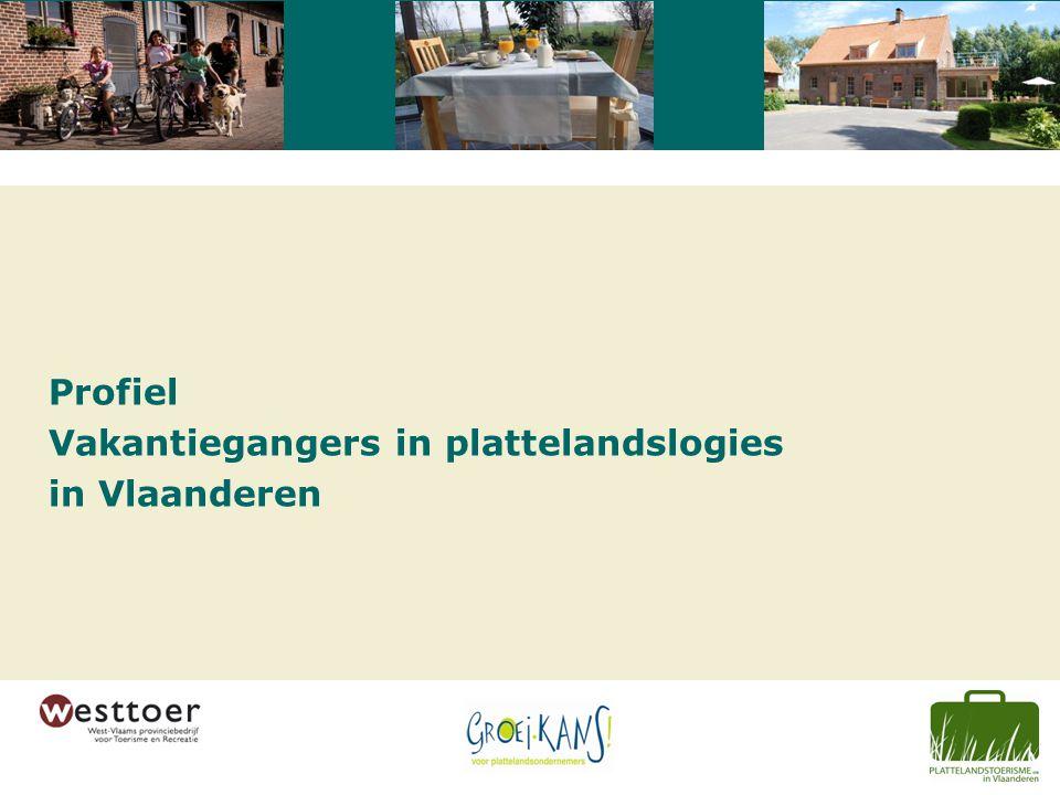Profiel Vakantiegangers in plattelandslogies in Vlaanderen