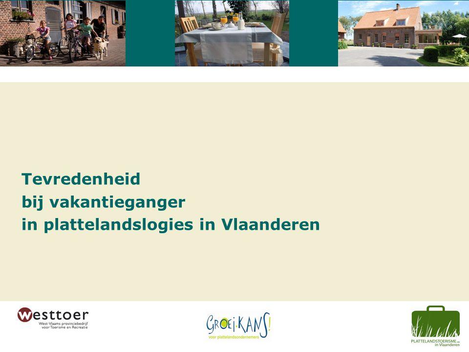 Tevredenheid bij vakantieganger in plattelandslogies in Vlaanderen
