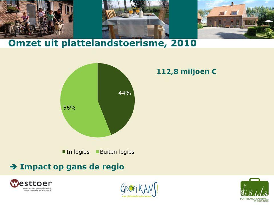 Marktsegmenten bij vakantiegangers op kamers 2010