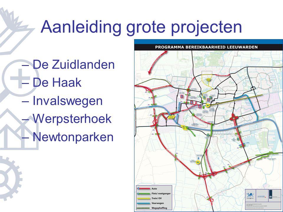 Aanleiding grote projecten – De Zuidlanden – De Haak – Invalswegen – Werpsterhoek – Newtonparken